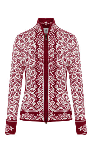 Dale of Norway Christiania Cardigan, Ladies - Ruby Mel/Off White, 81951-Q