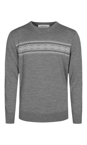 Dale of Norway Sverre Sweater, Mens -Smoke/Off White/Charcoal, 93031-T