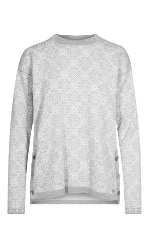 Dale of Norway Symra Sweater, Ladies - Light Charcoal/Off White/Smoke, 94341-E (94341-E)
