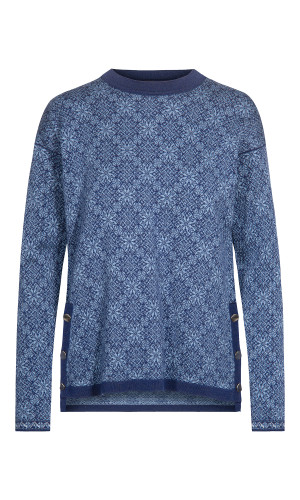 Dale of Norway Symra Sweater, Ladies - Electric Storm/Blue Shadow/Off White, 94341-H