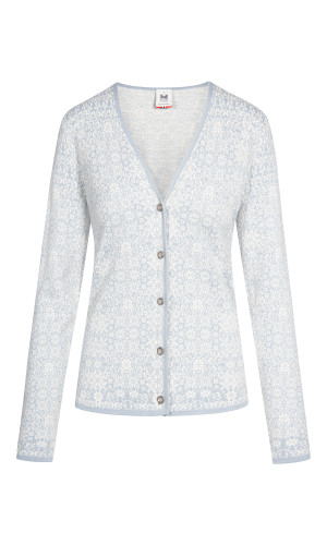 Dale of Norway Otelie Cardigan, Ladies - Ice Grey/Off White, 83581-D (83581-D)