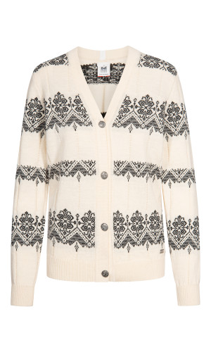 Dale of Norway Skansen Cardigan, Ladies - Off White/Black, 83701-A (83701-A)