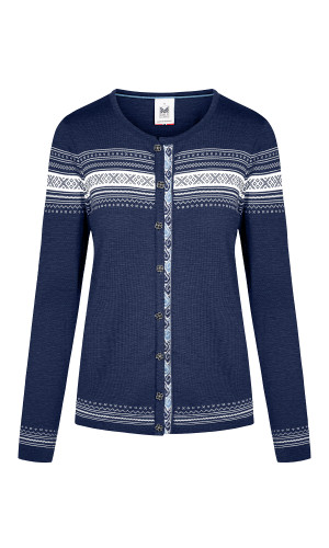 Dale of Norway Hedvig Cardigan, Ladies - Electric Storm/Off White/Blue Shadow, 83741-H (83741-H)