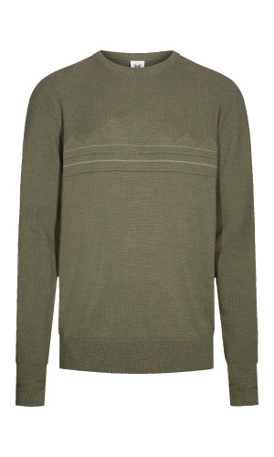 Dale of Norway Syv Fjell Round Neck Sweater, Mens - Dark Green/Smoke, 94151-G (94151-G)