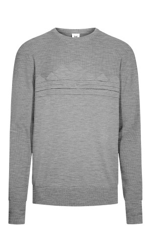 Dale of Norway Syv Fjell Round Neck Sweater, Mens - Smoke/Dark Charcoal, 94151-E (94151-E)