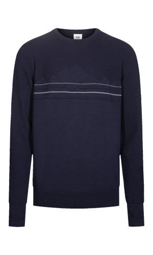 Dale of Norway Syv Fjell Round Neck Sweater, Mens - Navy/Off White, 94151-C (94151-C)