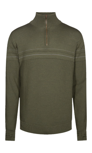 Dale of Norway Syv Fjell Half-Zip Sweater, Mens - Dark Green/Smoke, 94191-G (94191-G)