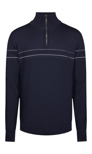 Dale of Norway Syv Fjell Half-Zip Sweater, Mens - Navy/Off White, 94191-C (94191-C)