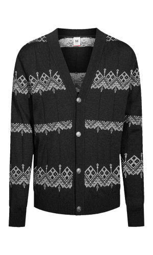 Dale of Norway Skansen Cardigan, Mens - Black/Off White - 83691-F (83691-F)
