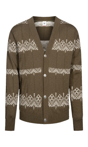 Dale of Norway Skansen Cardigan, Mens - Army Green/Off White - 83691-G (83691-G)