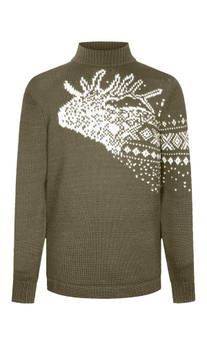 Dale of Norway Snøhetta Unisex Sweater - Green/Off White/Light Charcoal, 94201-G (94201-G)