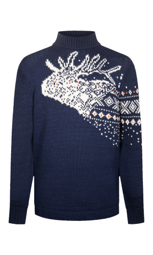 Dale of Norway Snøhetta Unisex Sweater - Navy/Off White/Orange Peel, 94201-C (94201-C)