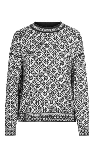Dale of Norway Bjorøy Sweater, Ladies - Black/Off White/Raspberry, 94401-F (94401-F)