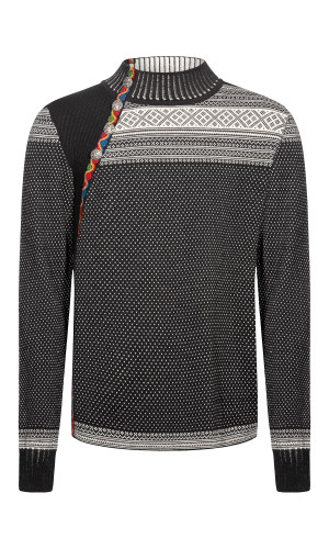 Dale of Norway Dalsete Men's Sweater - Black/Off White, 94391-F (94391-F)