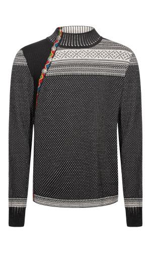 Dale of Norway Dalsete Men's Sweater - Black/Off White, 94391-F (94391-F)
