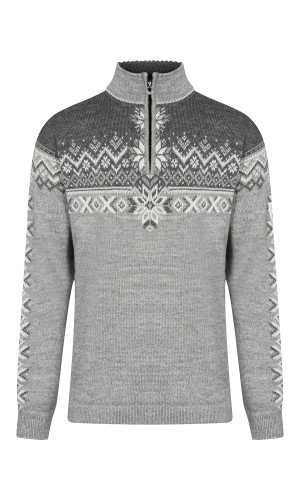 Dale of Norway 140th Anniversary Sweater, Mens - Light Charcoal/Smoke/Off White, 93951-E (93951-E)