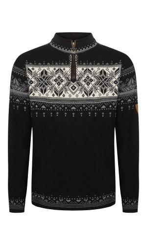 Dale of Norway Blyfjell Sweater - Black/Smoke/Off White/Light Charcoal, 91291-K