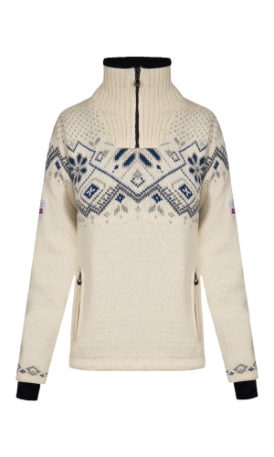 Dale of Norway Fongen Windstopper Sweater, Ladies - Off White/Light Charcoal/Smoke/Indigo, 93961-A (93961-A)