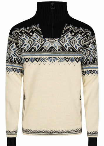 Dale of Norway Vail Weatherproof Sweater, Mens - Off White/Smoke/Midnight Navy/Navy/Blue Shadow, 93981-A