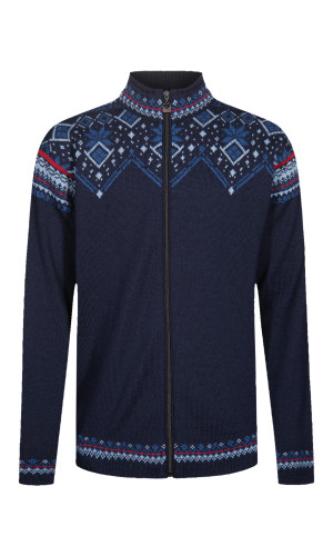 Dale of Norway Brimse Cardigan, Mens - Navy/Blue Shadow/Indigo/Red Rose , 83671-C (83671-C)