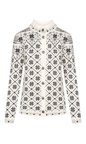 Dale of Norway Brimse Cardigan, Ladies -Off White/Black/Smoke/Light Charcoal , 83681-A (83681-A)