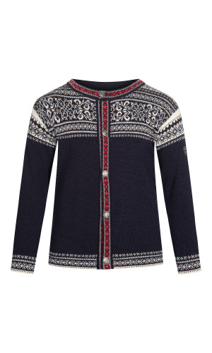 Dale of Norway Wergeland Cardigan, Children's- Navy/Off White/Raspberry, 83721-C (83721-C)
