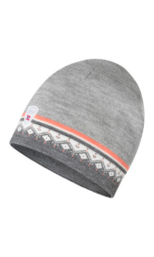 Dale of Norway Moritz Hat - Smoke/Coral/Off White/Light Charcoal, 48361-Q (48361-Q)