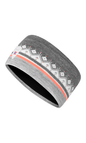 Dale of Norway Moritz Headband - Light Charcoal/Coral/Off white/Smoke, 26091-Q (26091-Q)