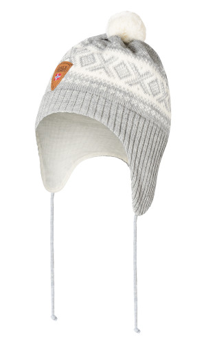 Dale of Norway Cortina Kids Hat 2-4, Light Charcoal/Off White, 43331-E (43331-E)