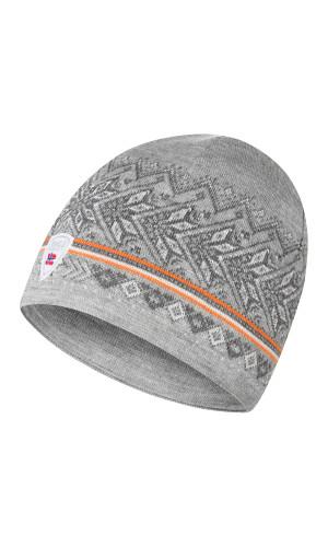 Dale of Norway Hovden Hat - Light Charcoal/Off White/Smoke/Orange Peel, 48081-E (48081-E)