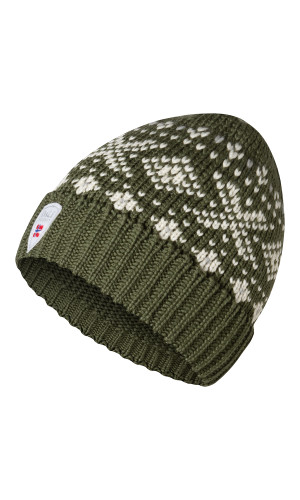 Dale of Norway Snøhetta Hat - Green/Off White/Light Charcoal, 48731-G (48731G)