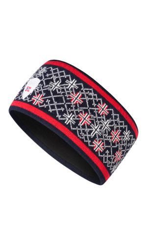 Dale of Norway Podium Headband - Navy/Raspberry/Off White, 26731-C (26731-C)