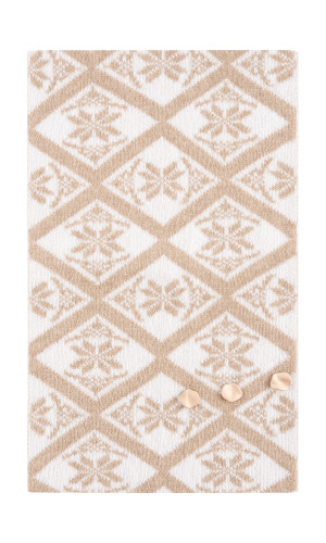 Dale of Norway Freja Scarf - Beige/Off White, 11721-P (11721-P)