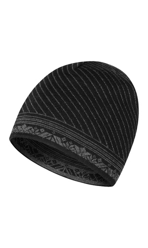 Dale of Norway André Hat - Black/Dark Charcoal, 48771-F (48771-F)