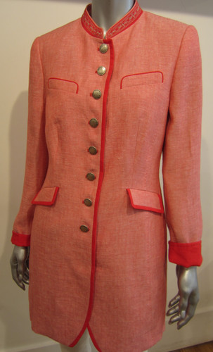 Schneider's Eugenia Ladies' Long Blazer, in Coral (16651005-7070)