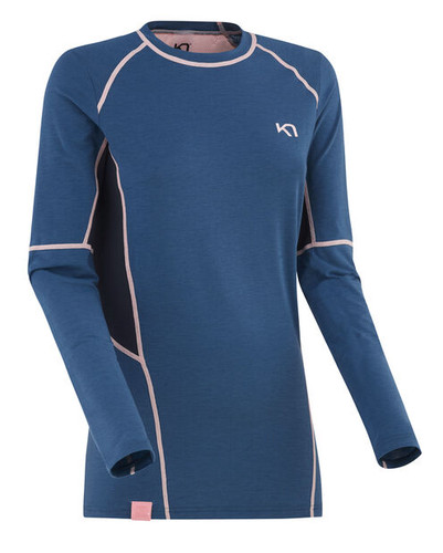Kari Traa Svala Longsleeve Active Baselayer Top - Astro Blue