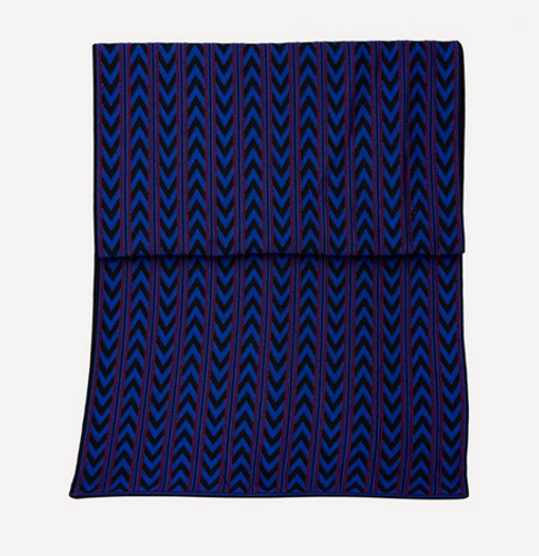 Oleana Dada Direction Scarf, 551O Rather Blue (551O) detail
