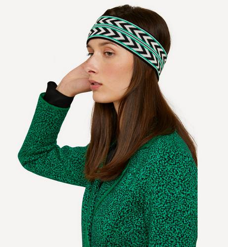 Oleana Dada Direction Headband, 552-OG Green Stripe/Rather Blue (552OG) on model