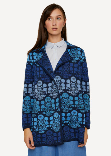 Oleana Alhambra Long Cardigan, 363W Blue (363W)