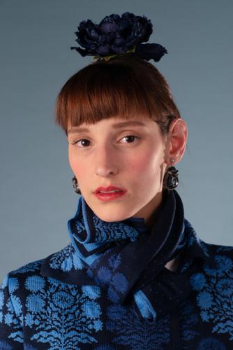 Oleana Alhambra Scarf, 364-W Blue (364W)