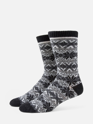 B.ELLA Gia Snowflake Socks, Ladies' One Size - Charcoal (BE0618-07030)