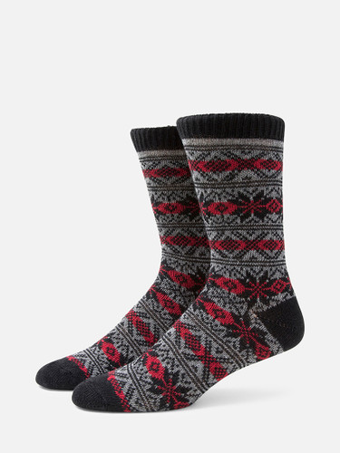 B.ELLA Gia Snowflake Socks, Ladies' One Size - Black (BE0618-07000)