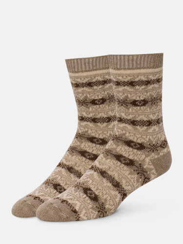 B.ELLA Gia Snowflake Socks, Ladies' One Size - Camel (BE0618-06044)