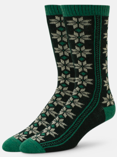 B.ELLA Neve Pointsettia Socks, Ladies' One Size - Emerald (BE0475-05055)