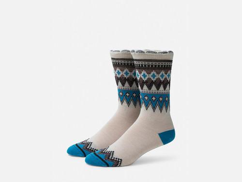 B.ELLA Everleigh Sparkle Fairisle Socks, Ladies' One Size - Beige (BE0325-06018)