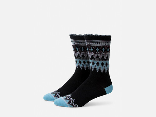 B.ELLA Everleigh Sparkle Fairisle Socks, Ladies' One Size - Black (BE0325-07000)