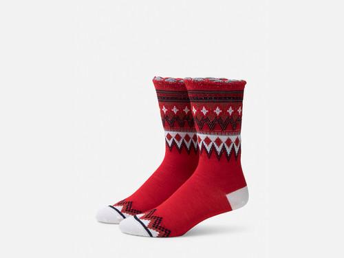 B.ELLA Everleigh Sparkle Fairisle Socks, Ladies' One Size - Red (BE0325-03000)