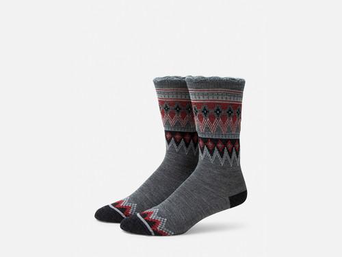 B.ELLA Everleigh Sparkle Fairisle Socks, Ladies' One Size - Grey (BE0325-07030)