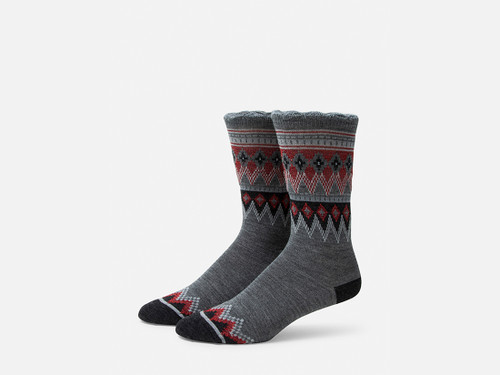 B.ELLA Everleigh Sparkle Fairisle Socks, Ladies' One Size - Grey (BE0325-07030)