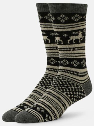 B.ELLA Vixen Reindeer Socks, Ladies' One Size - Charcoal (BE0483-07930)